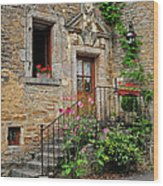 Stairway Provence France Wood Print