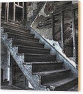 Stairway To Ruin Wood Print