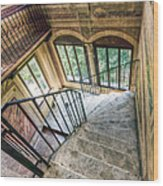 Stairways Wood Print by Andreas Jancso