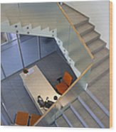 Stairwell In And Office Wood Print by Jaak Nilson