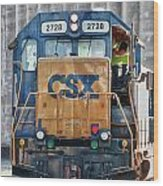 Stalled 7141 Wood Print