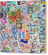Stamp Collection . 2 To 1 Proportion Wood Print