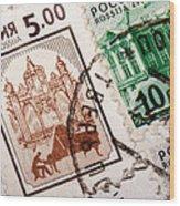 Stamp Collection Wood Print by Mustafa Otyakmaz