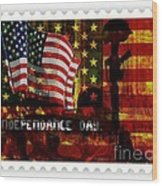 Stamp Your Freedom  Wood Print