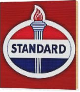 Standard Oil Sign Wood Print
