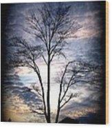 Standing Alone Wood Print