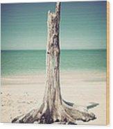 Standing Alone-vintage Wood Print