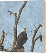Standing Guard Wood Print