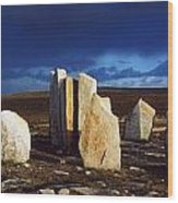 Standing Stones, Blacksod Point, Co Wood Print