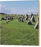 Standing Stones On A Landscape Wood Print