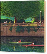 Stanley Park Scullers Poster Wood Print