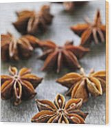 Star Anise Fruit And Seeds Wood Print