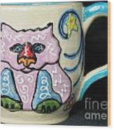 Star Kitty Mug Wood Print by Joyce Jackson