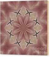 Star Magnolia Medallion 4 Wood Print
