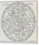 Star Map, 1805 Wood Print by Detlev Van Ravenswaay