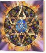 Star Of David Three Wood Print