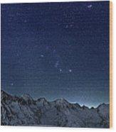 Star Panorama Wood Print by RICOWde
