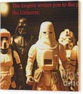 Star Wars Gang 2 Wood Print by Micah May