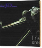 Star Wars Jedi Card Wood Print