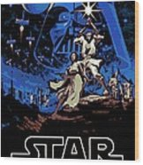 Star Wars Poster Wood Print