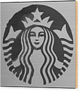 Starbuck The Mermaid In Black And White Wood Print