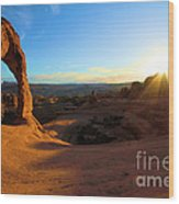 Starburst At Delicate Arch Wood Print