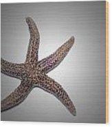 Starfish Wood Print by Luc Novovitch