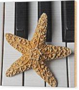 Starfish Piano Wood Print
