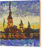 Starred Saint Petersburg Wood Print