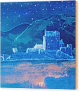 Starry Night Eilean Donan Castle Wood Print