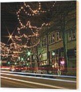 Starry Nights - Main Street Nights Wood Print