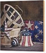 Stars And Stripes Still Life Wood Print by Tom Mc Nemar
