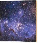 Stars And The Milky Way Wood Print