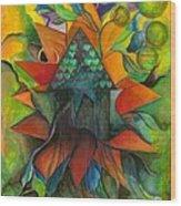 Stars House One Wood Print