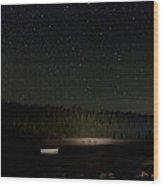Stars Over Otter Cove Wood Print