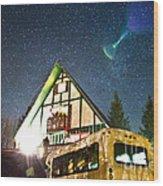 Stars Over Pow Wow Wood Print
