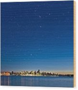 Stars Over Vancouver, Canada Wood Print