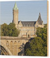 State Savings Bank, Luxembourg City, Luxembourg Wood Print