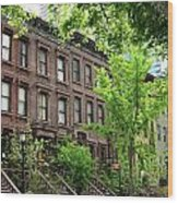 Stately Ny Street Wood Print