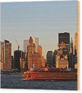 Staten Island Ferry 3 Wood Print