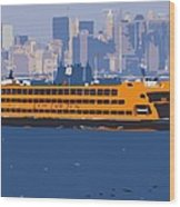 Staten Island Ferry Color 16 Wood Print