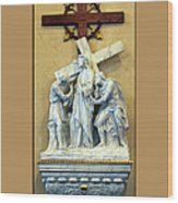 Station Of The Cross 02 Wood Print
