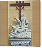 Station Of The Cross 11 Wood Print