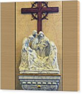 Station Of The Cross 14 Wood Print