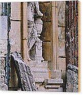 Statue In A Niche Wood Print