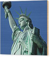 Statue Of Liberty Wood Print by Brian Jannsen