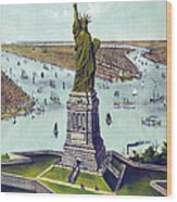Statue Of Liberty. The Great Bartholdi Wood Print by Everett