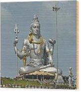 Statue of Lord Shiva at Murudeshwara Wood Print