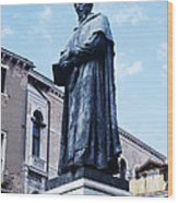 Statue Of Paolo Sarpi, Venetian Scientist Wood Print