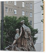 Statues In Nashville Wood Print